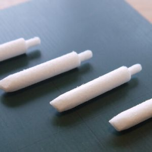 Liquid type chalk oblique pen head